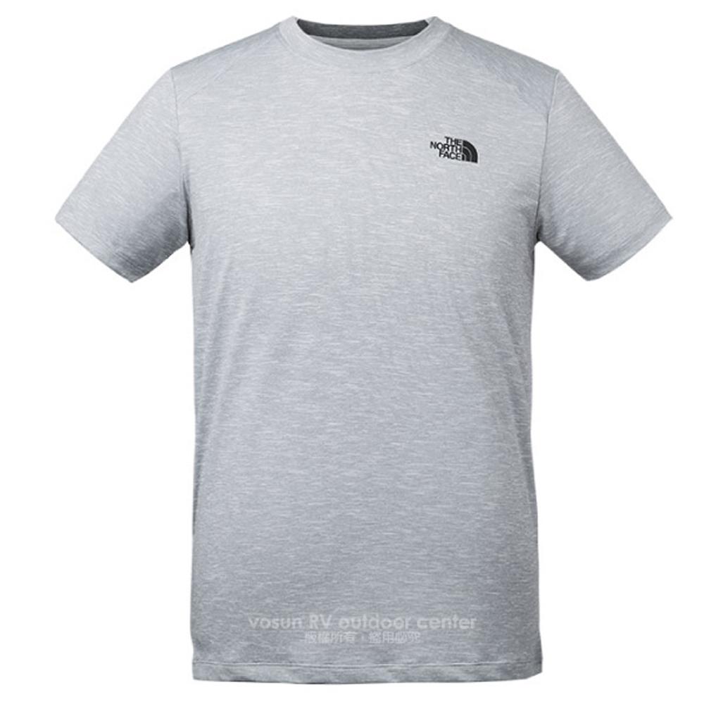 【美国 The North Face】男新款 FlashDry-XD 闪电快干耐磨短袖快排衫.机能性排汗衣.圆领T恤/3CGZ 浅灰 N