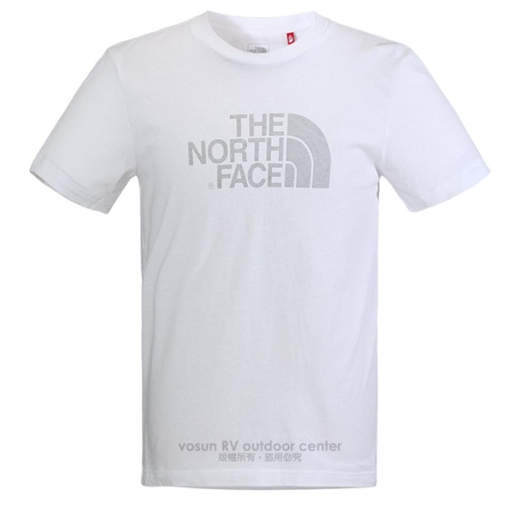 【美国 The North Face】男新款 大LOGO轻量透气短袖快排衫.机能性吸湿排汗衣.运动圆领T恤/A9UP 白 N