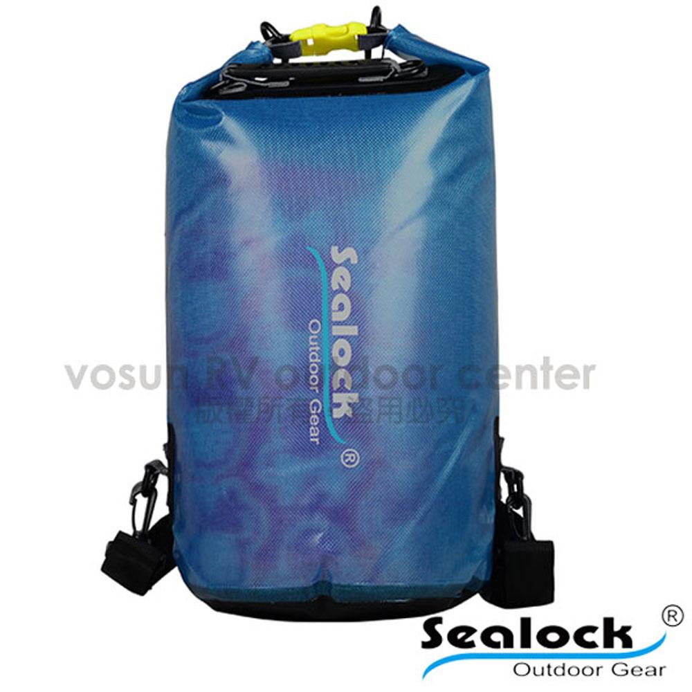 【Sealock思路客】IPX7果凍PVC防水雙肩背包28L.多功能收納袋.漂流袋.打包袋.背包內袋.打理包/T0128 藍