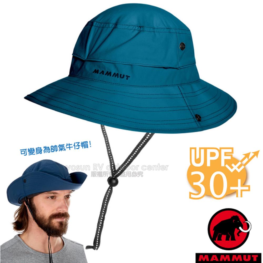 【瑞士 MAMMUT 長毛象】新款 Runbold Advanced 輕量透氣漁夫帽UPF30.圓盤帽.遮陽帽_05041-50011 冠藍鴉