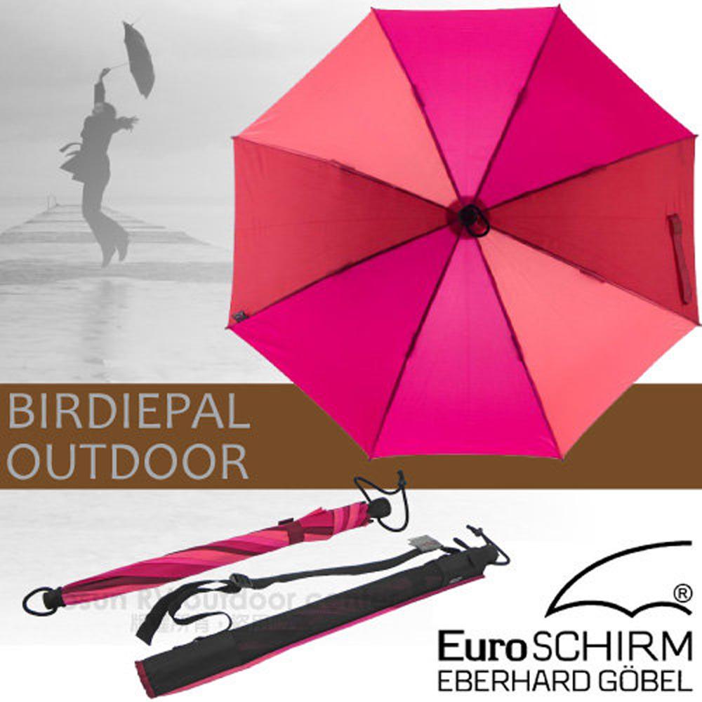 【德國 EuroSCHIRM】BIRDIEPAL OUTDOOR 戶外專用風暴傘/抗導電.質輕強韌.耐撞擊.指北針 紫紅 W208-CW4