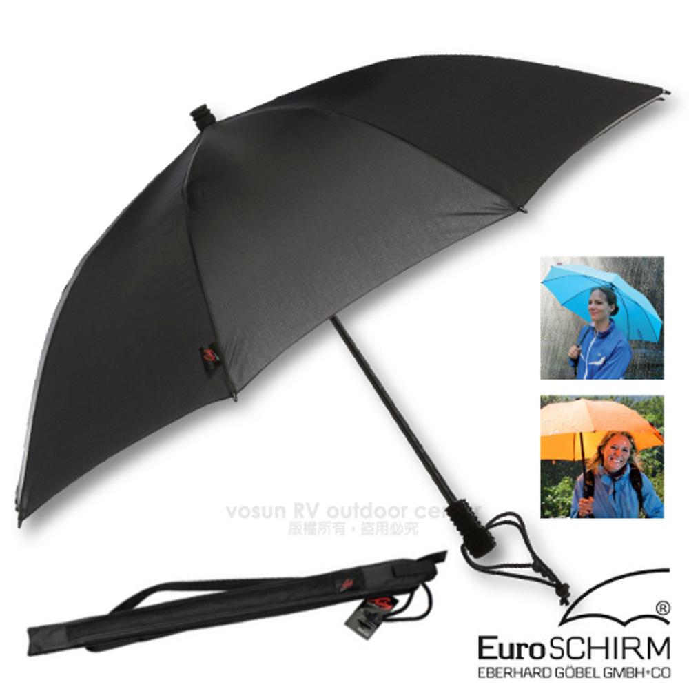 【德國 EuroSCHIRM】SWING LITEFLEX 戶外專用直把傘(超輕量207g)/100%聚酯纖維/附收納袋_W2L6 黑