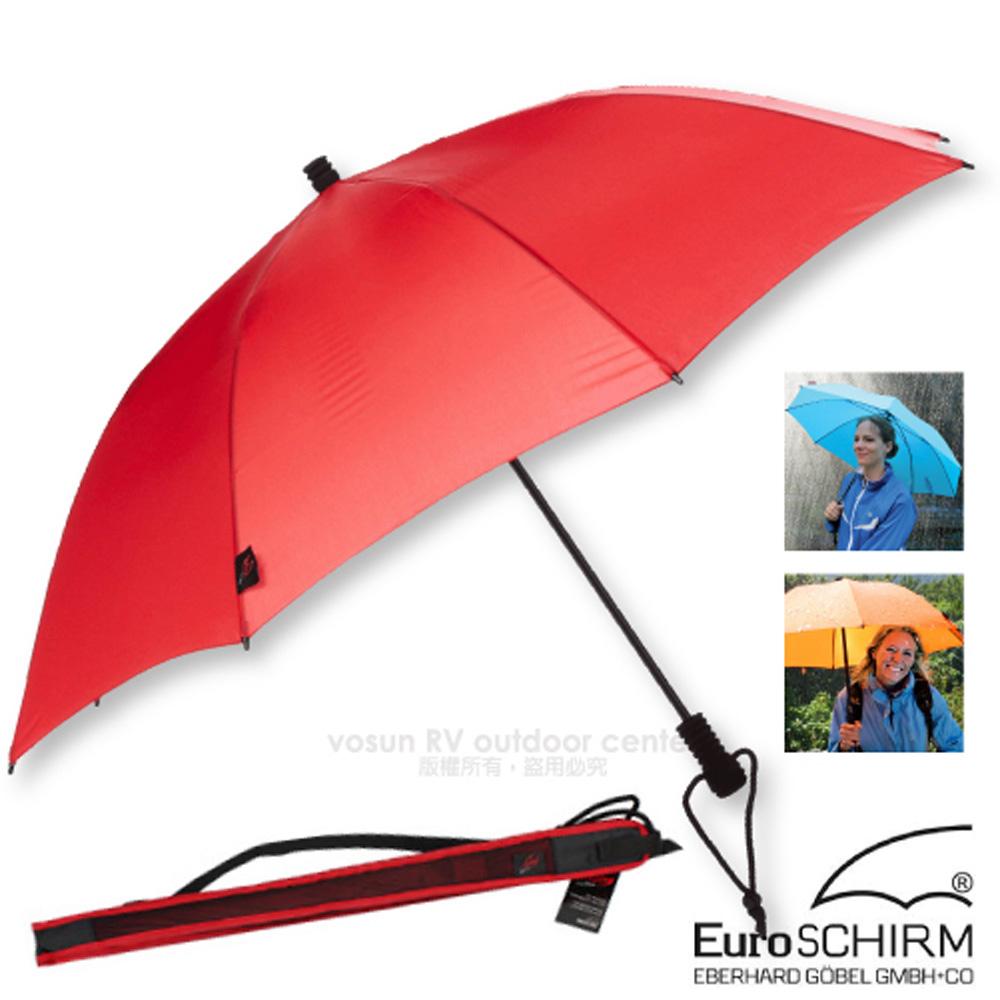 【德國 EuroSCHIRM】SWING LITEFLEX 戶外專用直把傘(超輕量207g)/100%聚酯纖維/附收納袋_W2L6 紅