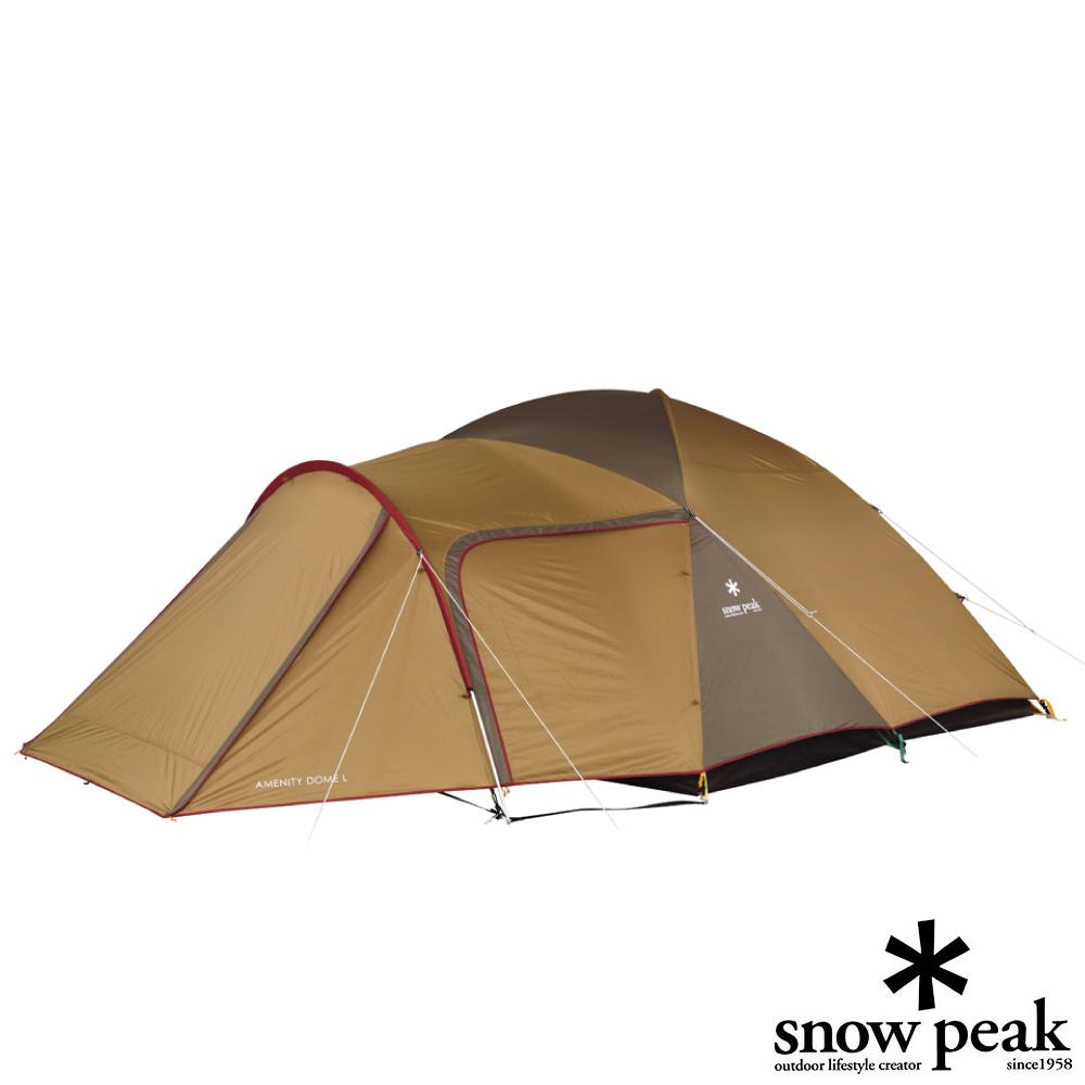 【日本 Snow Peak】新款 Amenity 6人寝室铝合金家庭露营帐蓬.可连客厅帐棚.炊事帐/SDE-003RH