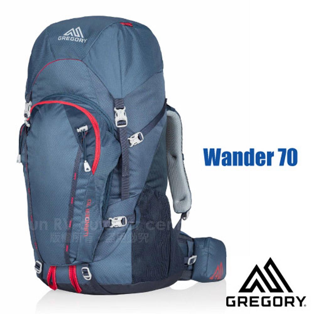 【美国 GREGORY】Wander 70 专业健行登山背包(70L)/自助旅行背包.适休闲旅游.自行车环岛/海蓝 65141
