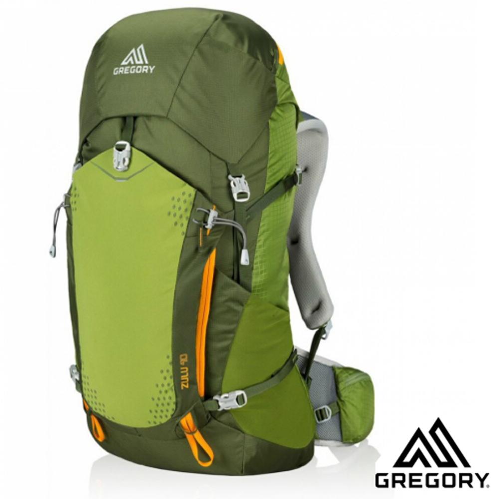 【美国 GREGORY】Zulu 40 网架式健行登山背包(M号_附全罩式背包套+攻顶背包).适自助旅行_绿 68435