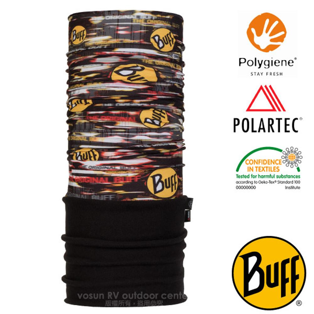 【西班牙 BUFF】POLARTEC 超彈性保暖魔術頭巾PLUS(吸溼排汗+抗菌除臭)口罩_圍脖帽子_118817 狂熱BUFF
