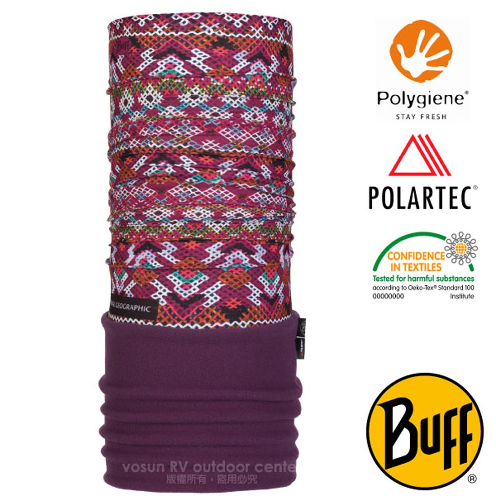 【西班牙 BUFF】國家地理 POLARTEC 超彈性保暖魔術頭巾PLUS/圍巾.口罩_圍脖帽子_118378 格陵蘭色