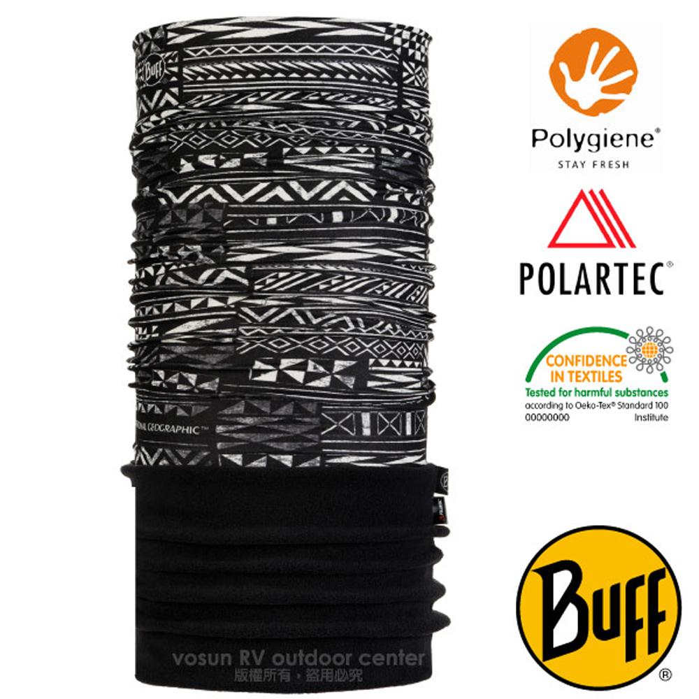 【西班牙 BUFF】國家地理 POLARTEC 超彈性保暖魔術頭巾PLUS.可當圍巾_口罩_圍脖帽子_118379 失落文明