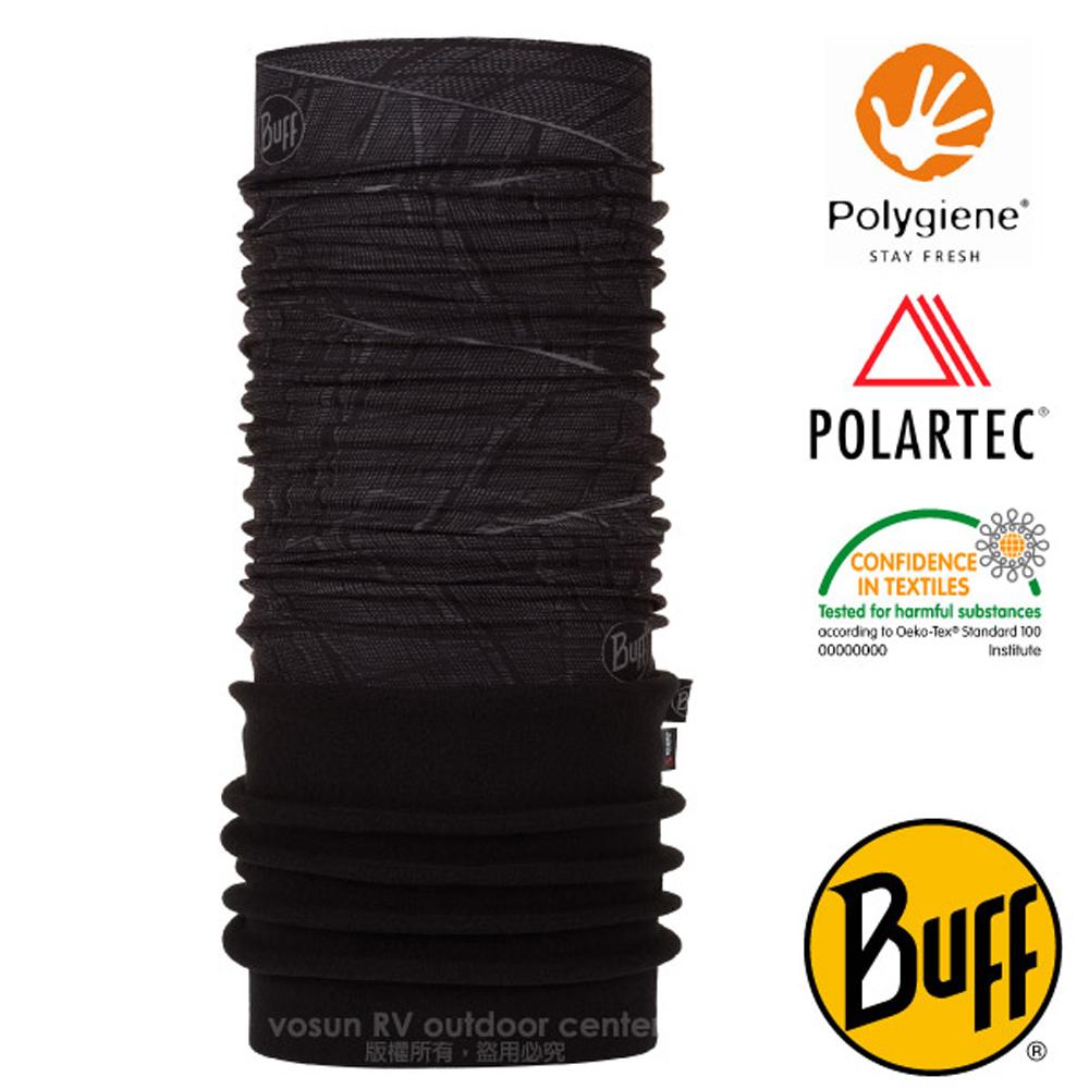 【西班牙 BUFF】POLARTEC 超彈性保暖魔術頭巾PLUS.可當圍巾_口罩_圍脖帽子_118021 黑夜降臨