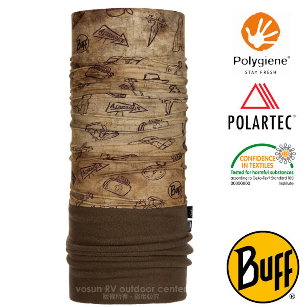 【西班牙 BUFF】聖雅各之路 POLARTEC 超彈性保暖魔術頭巾PLUS.口罩_圍脖帽子_118260 南方賢者