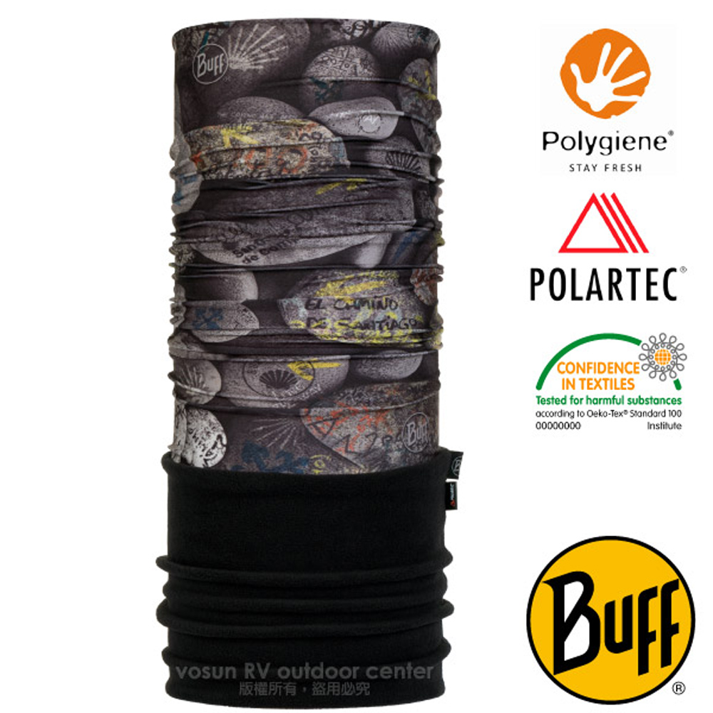 【西班牙 BUFF】聖雅各之路 POLARTEC 超彈性保暖魔術頭巾PLUS.圍巾_口罩_圍脖帽子_118261 指路磐石
