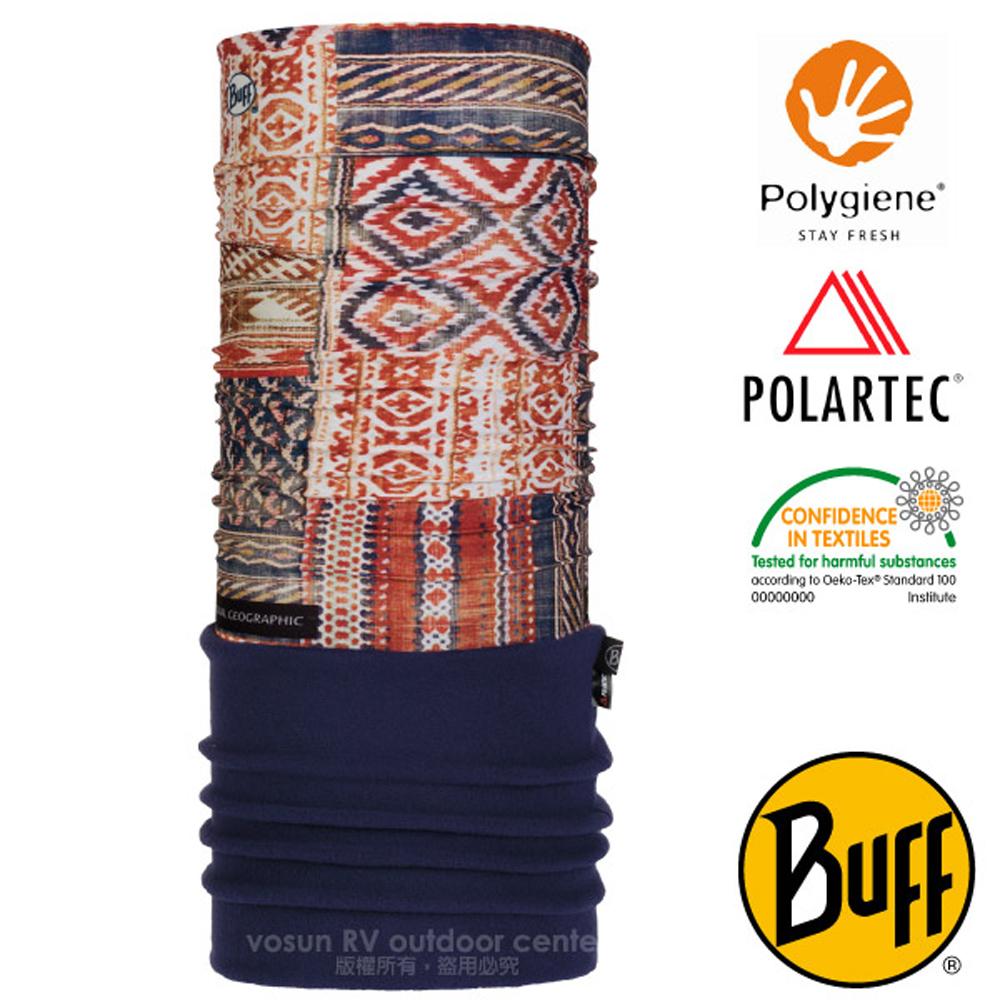 【西班牙 BUFF】國家地理 POLARTEC 超彈性保暖魔術頭巾PLUS/可當圍巾_口罩_圍脖帽子_118376 傳統文化
