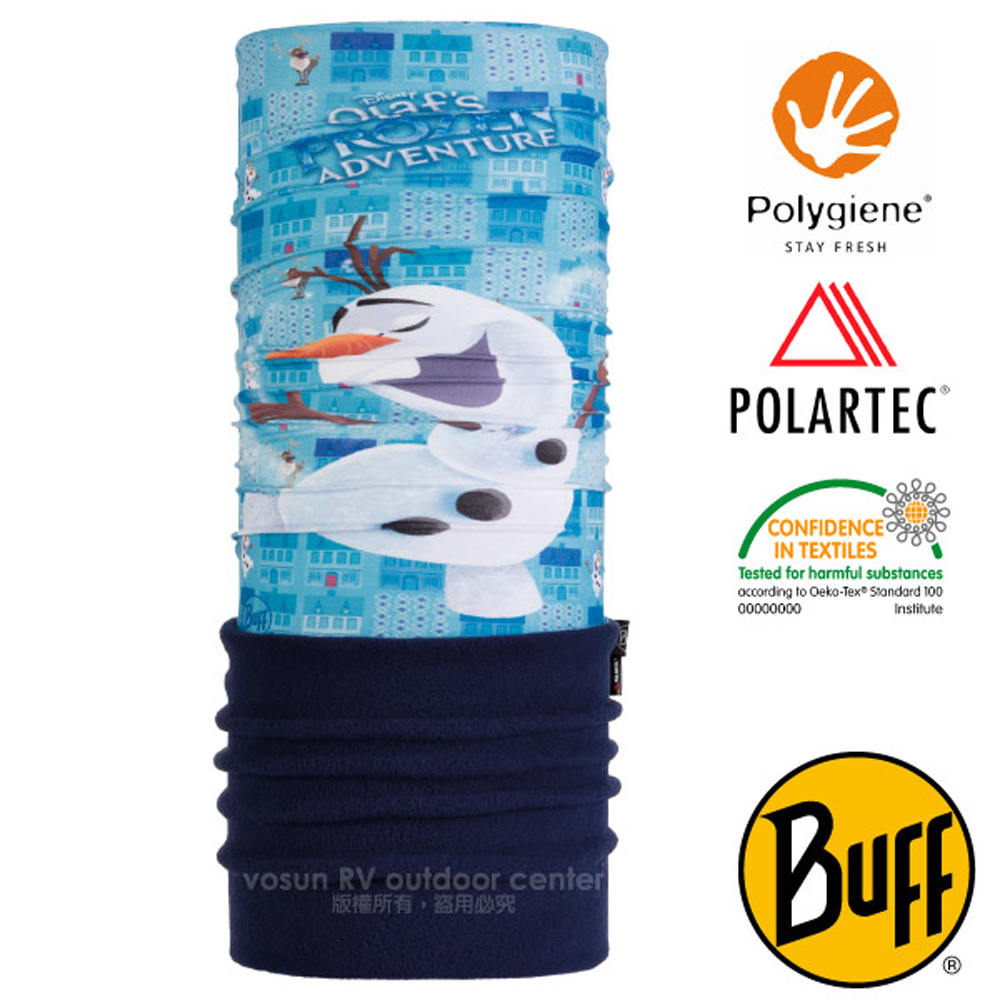 【西班牙 BUFF】冰雪奇緣授權 兒童/青少年 POLARTEC 超彈性保暖魔術頭巾PLUS.圍脖_118390 歡樂雪寶