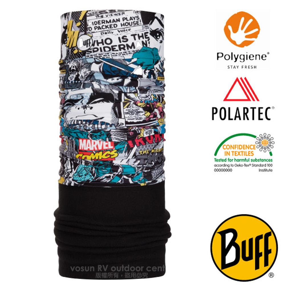 【西班牙 BUFF】超級英雄 POLARTEC 超彈性保暖魔術頭巾PLUS.可當圍巾_口罩_圍脖帽子_118269 漫威英雄