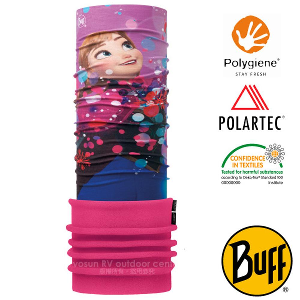 【西班牙 BUFF】冰雪奇緣授權 兒童/青少年 POLARTEC 超彈性保暖魔術頭巾PLUS.圍脖_118392 粉紅安娜