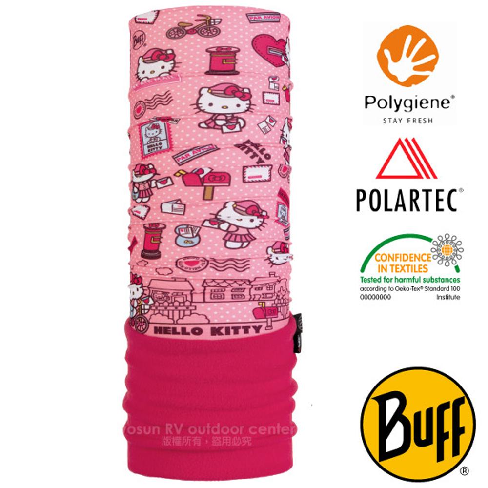 【西班牙 BUFF】Kitty授權 兒童/青少年 POLARTEC 超彈性保暖魔術頭巾PLUS.圍脖帽子_118300 心情快遞