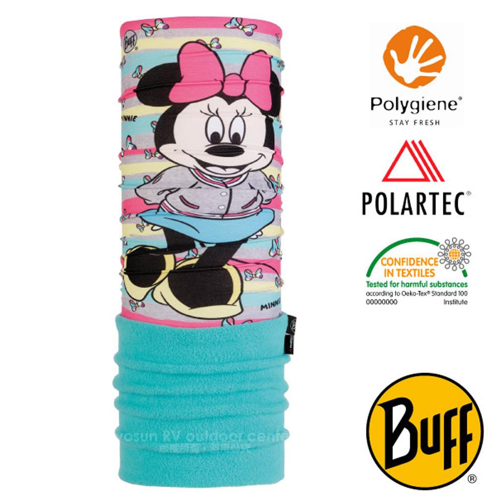 【西班牙 BUFF】迪士尼授權 兒童/青少年 POLARTEC 超彈性保暖魔術頭巾PLUS_圍脖帽子_118314 可愛米妮