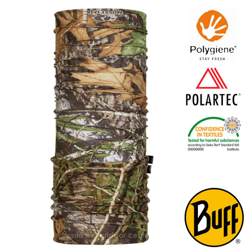【西班牙 BUFF】橡樹迷彩 POLARTEC 超彈性保暖魔術頭巾PLUS.可當圍巾_圍脖帽子_118843 混合林域