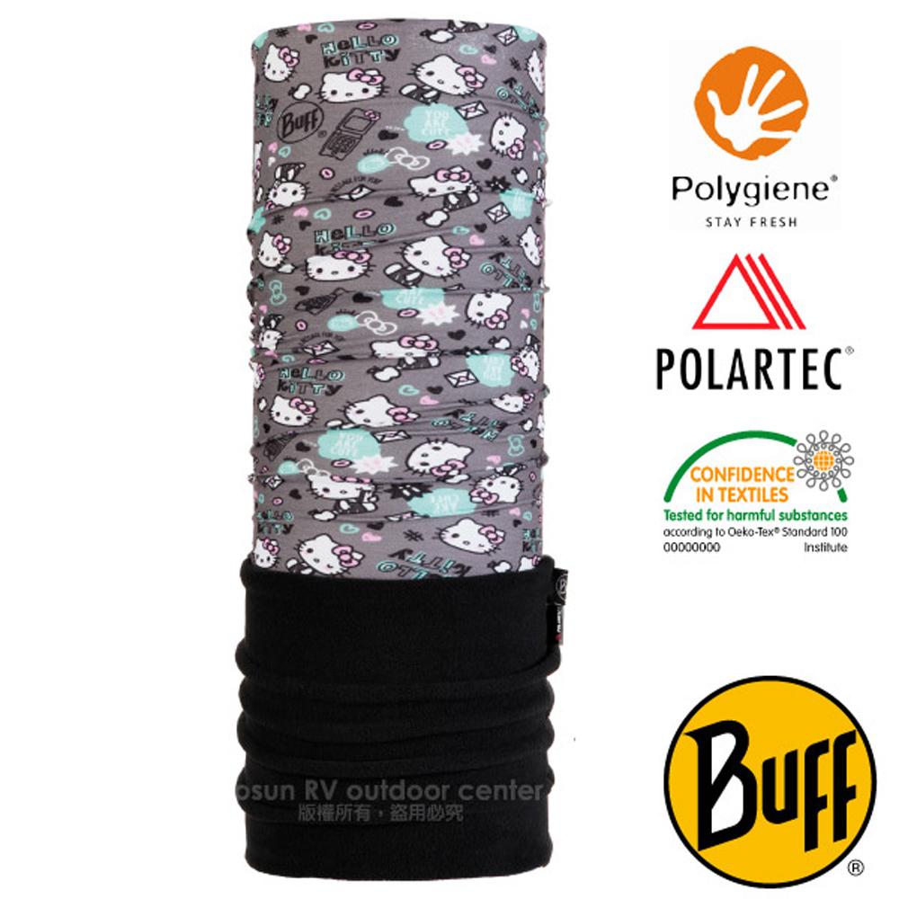 【西班牙 BUFF】Kitty授權 兒童/青少年 POLARTEC 超彈性保暖魔術頭巾PLUS_圍脖帽子_118302 心情郵件