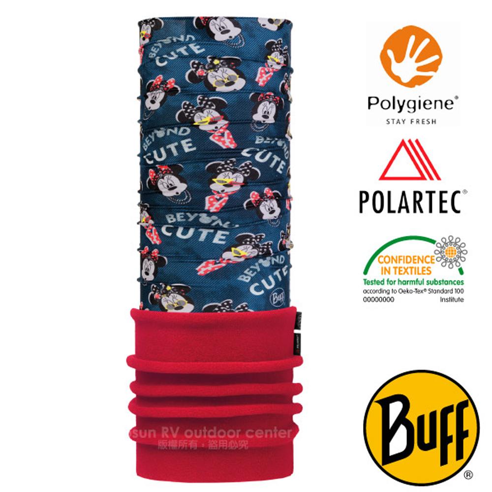 【西班牙 BUFF】迪士尼授權 兒童/青少年 POLARTEC 超彈性保暖魔術頭巾PLUS_圍脖帽子_118308 花樣米妮