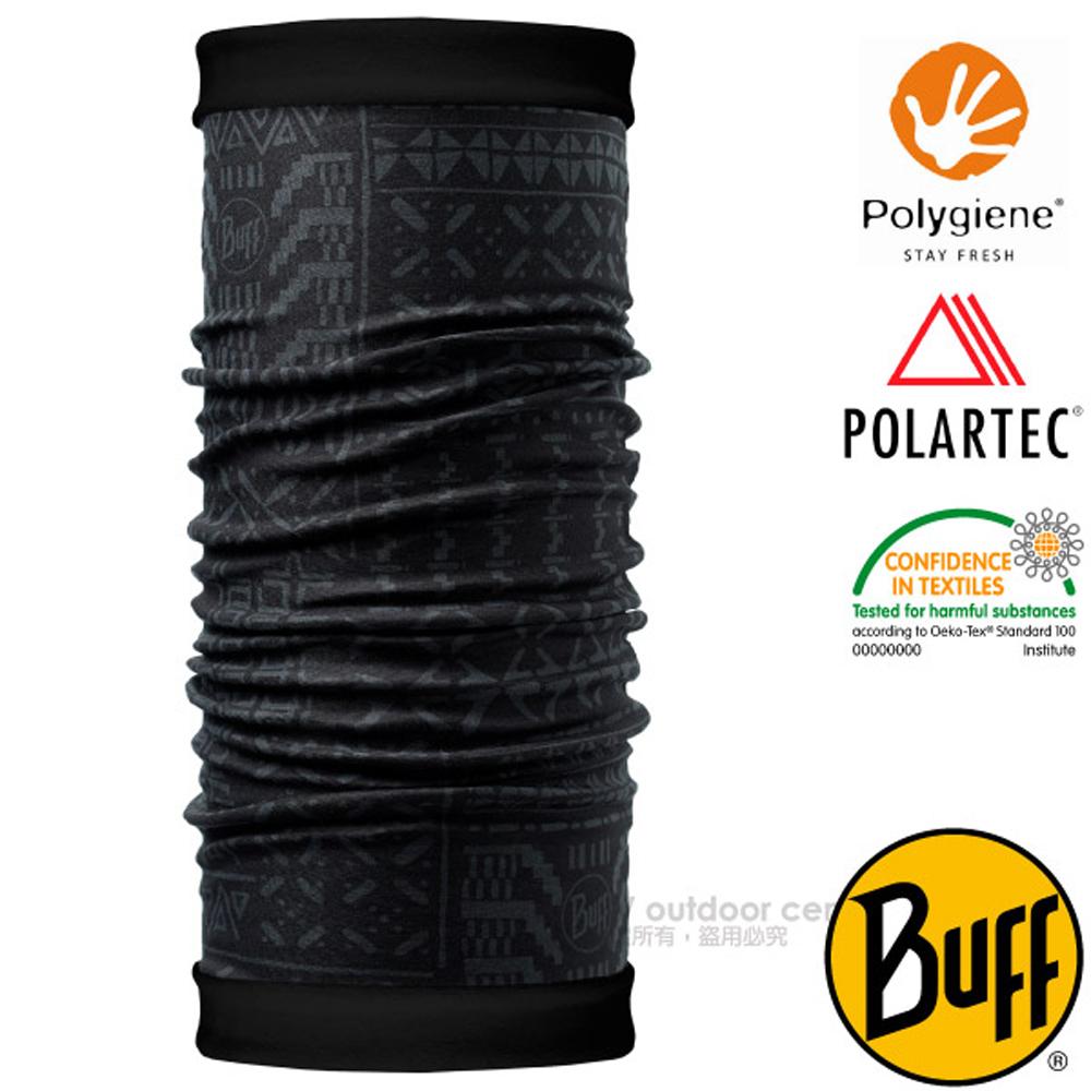 【西班牙 BUFF】POLARTEC 雙面用超彈性保暖魔術頭巾PLUS/可當圍巾_口罩_圍脖帽子_118043 圖騰印記