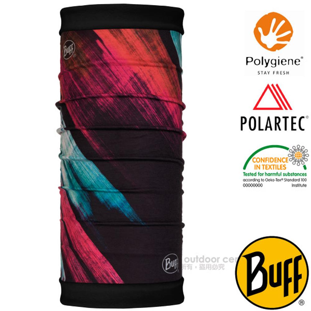 【西班牙 BUFF】POLARTEC 雙面用超彈性保暖魔術頭巾PLUS.可當口罩_圍脖帽子_118054 粉彩刷墨