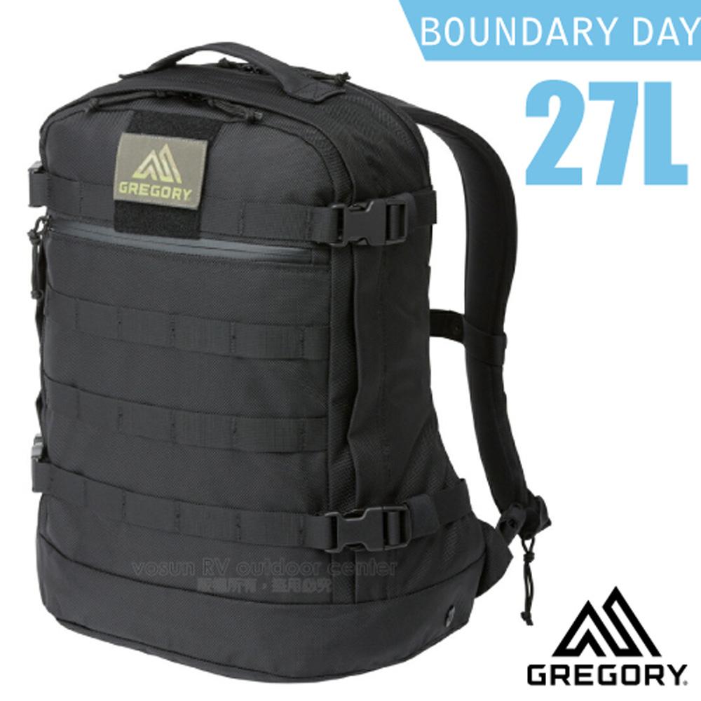 【美國 GREGORY】BOUNDARY DAY 27L 輕量軍用型後背包(電腦隔間)/適登山健行_109781 黑色子彈