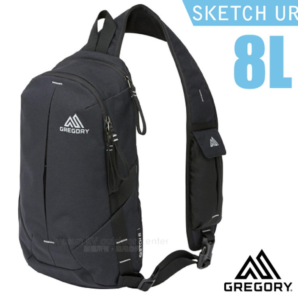 【美國 GREGORY】Sketch 8 UR 多功能日用單肩包8L.運動斜背包.側背隨身包/11吋電腦夾層/109449 黑/碳