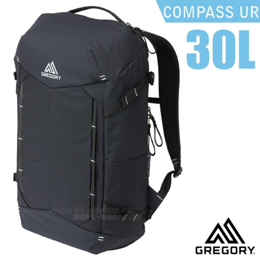 【美國 GREGORY】Compass UR 30L 全開式減震透氣登山健行後背包(平板電腦筆電隔間)/109453 黑/碳