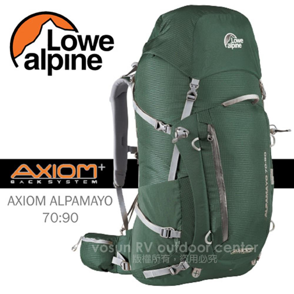 【英國 LOWE ALPINE】新款 AXIOM ALPAMAYO 70:90 登山健行背包健行登山背包/FBP60CR 鱷魚綠