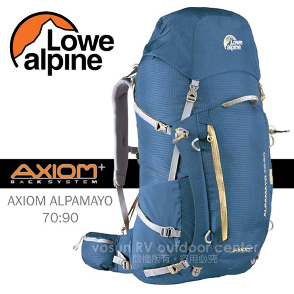 【英國 LOWE ALPINE】新款 AXIOM ALPAMAYO 70:90 登山健行背包健行登山背包/FBP60BO 邦地海灘藍
