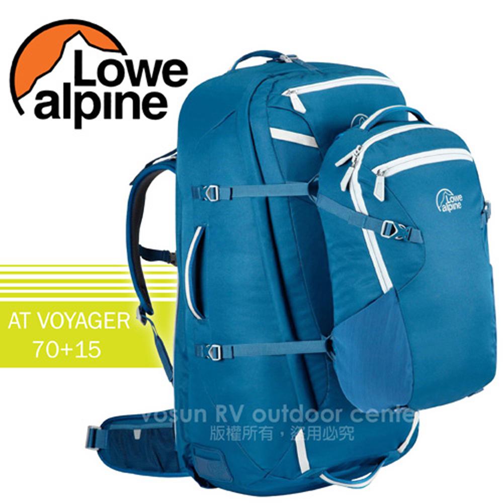 【英國 LOWE ALPINE】新款 冒險旅行 AT VOYAGER 70+15 健行登山背包(含背包套)/FTR29AT 西洋藍