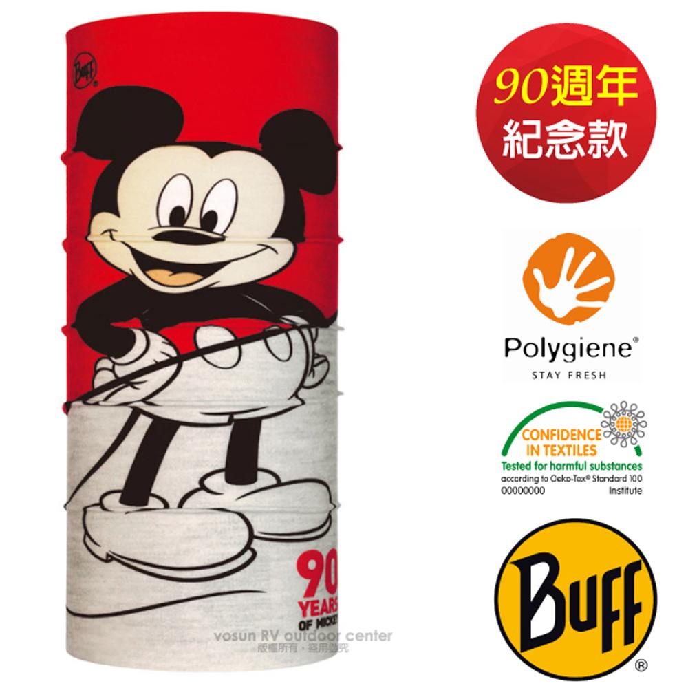 【西班牙 BUFF】90周年紀念款 迪士尼授權 成人款 超彈性魔術頭巾PLUS/可圍脖帽子_121886 Plus-經典90