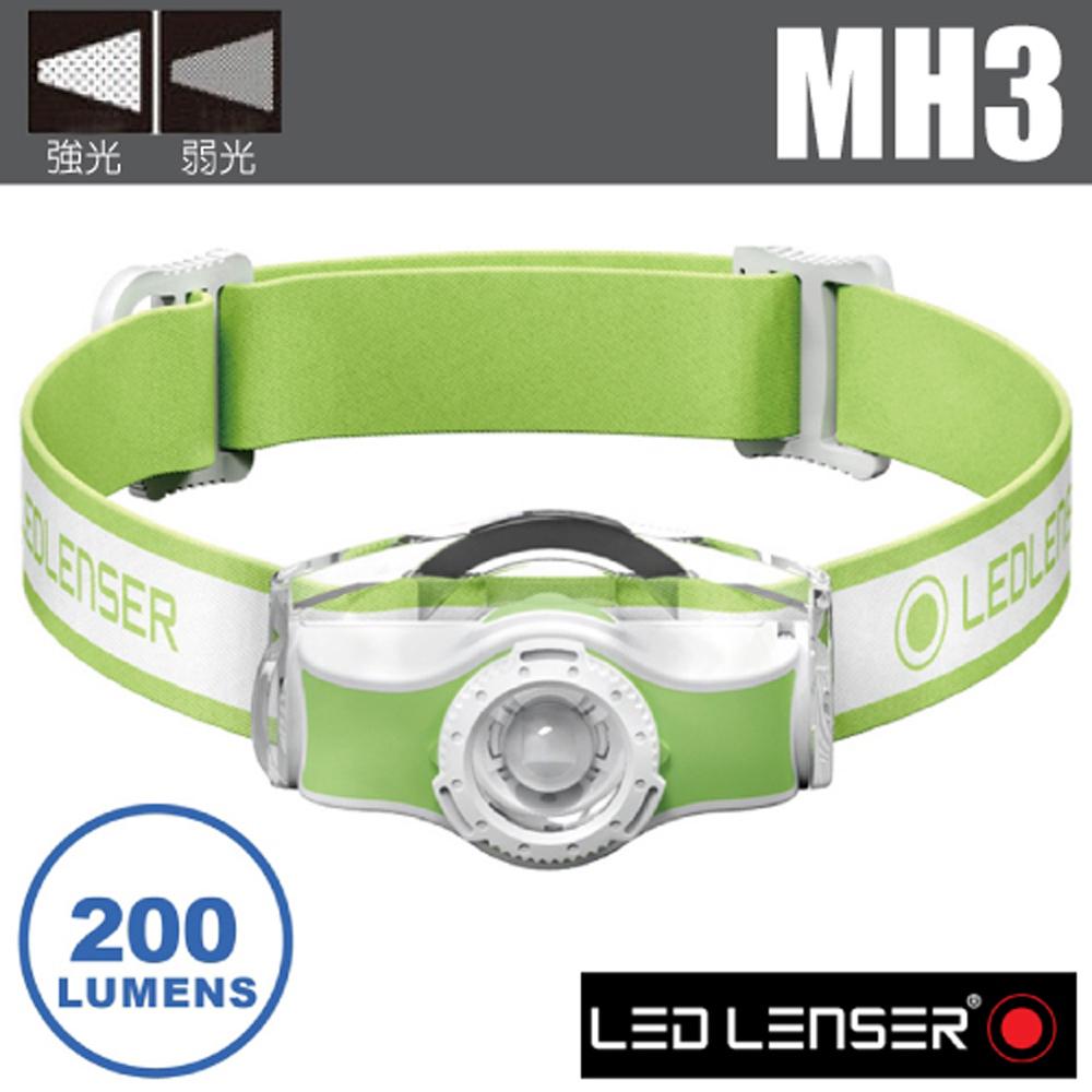 【德國 LED LENSER】MH3 專業伸縮調焦頭燈(200流明/IP54防水).電子燈/緊急照明_501593 綠