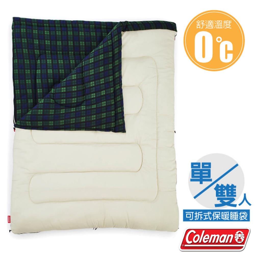 【美國 Coleman】新款 輕量保暖冒險家睡袋(150×190cm.舒適溫度0℃以上).信封型.保暖化纖睡袋/CM-33804