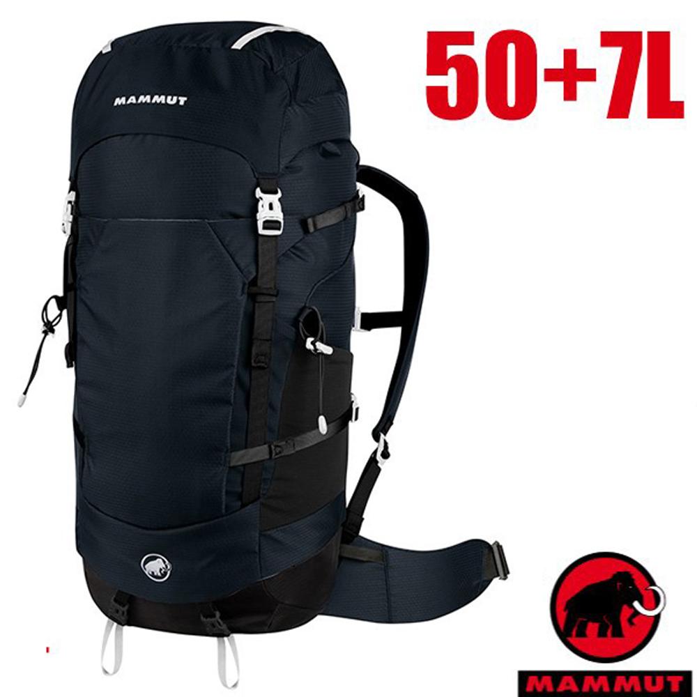 【瑞士 MAMMUT 長毛象】新款 Lithium Crest 50+7L 輕量專業透氣登山健行背包/2530-03561-0001 黑