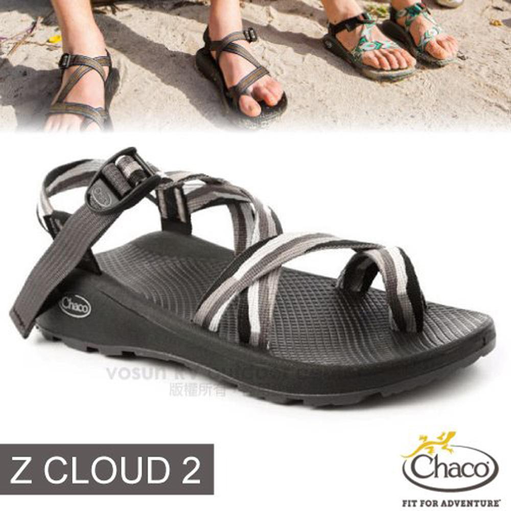【美國 Chaco】男 Z/CLOUD 2 越野紓壓運動涼鞋(夾腳款)/戶外拖鞋.海灘鞋.耐磨/ CH-ZLM02-HF31 點點黑
