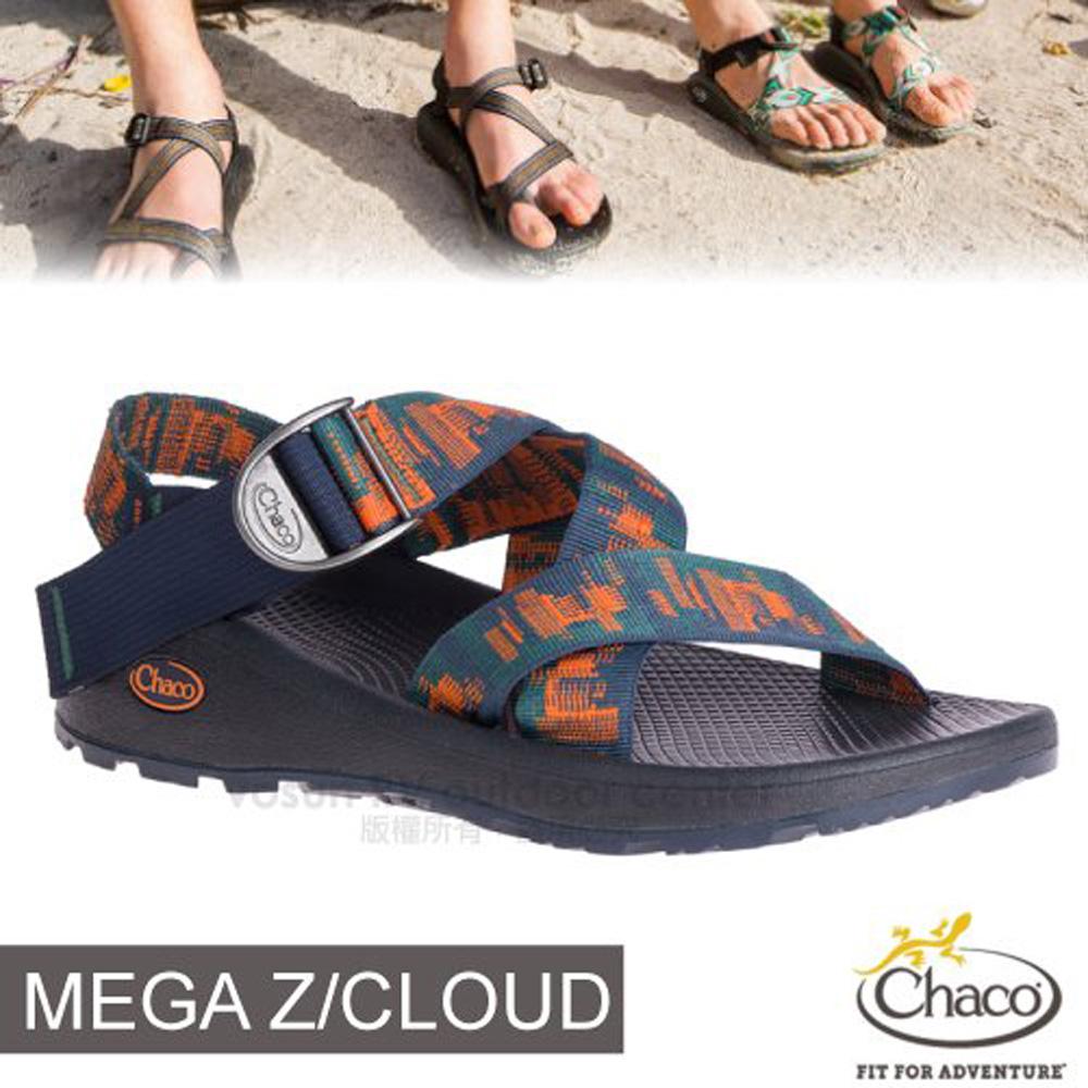 【美國 Chaco】男 MEGA Z/CLOUD 越野紓壓運動涼鞋(標準款-寬織帶)/戶外拖鞋.海灘鞋/CH-ZLM03-HF34