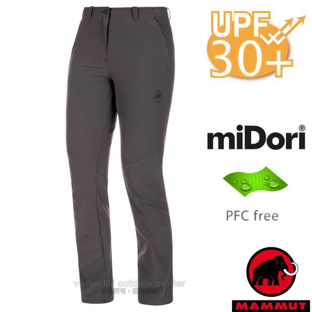 【瑞士 MAMMUT 長毛象】女新款 Runbold Pants 輕量4向彈性抗UV透氣排汗長褲/1022-00490-00150 幻影灰