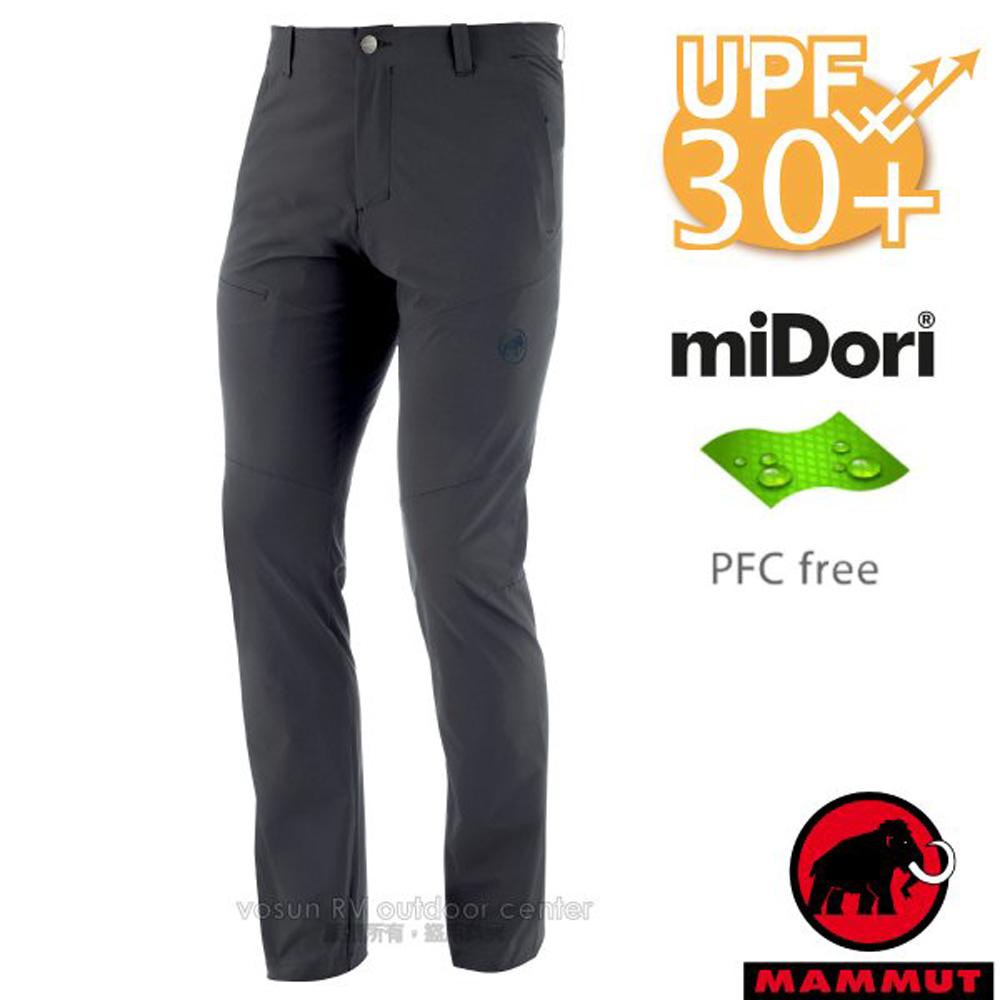 【瑞士 MAMMUT 長毛象】男新款 Runbold Pants 輕量4向彈性抗UV透氣快乾排汗長褲/1022-00480-00150 幻影黑