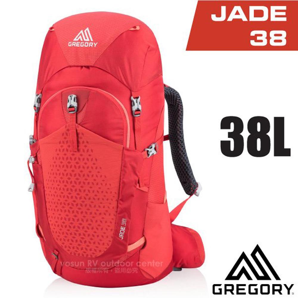 【美國 GREGORY】女款 Jade 38 網架式健行登山背包(S/M號_附全罩式背包套)_111573 罌 粟紅
