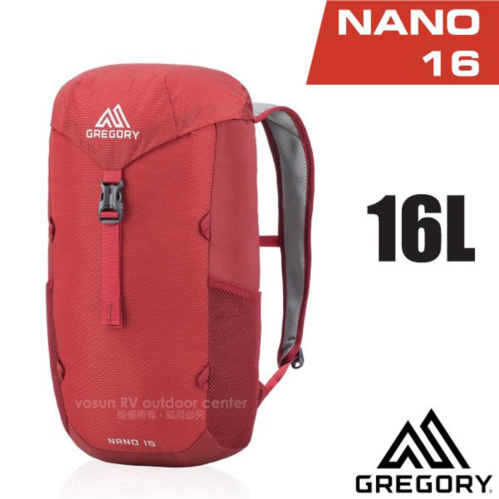 【美國 GREGORY】NANO 16 多功能休閒後背包16L.書包(減壓透氣背板)/111497 火紅