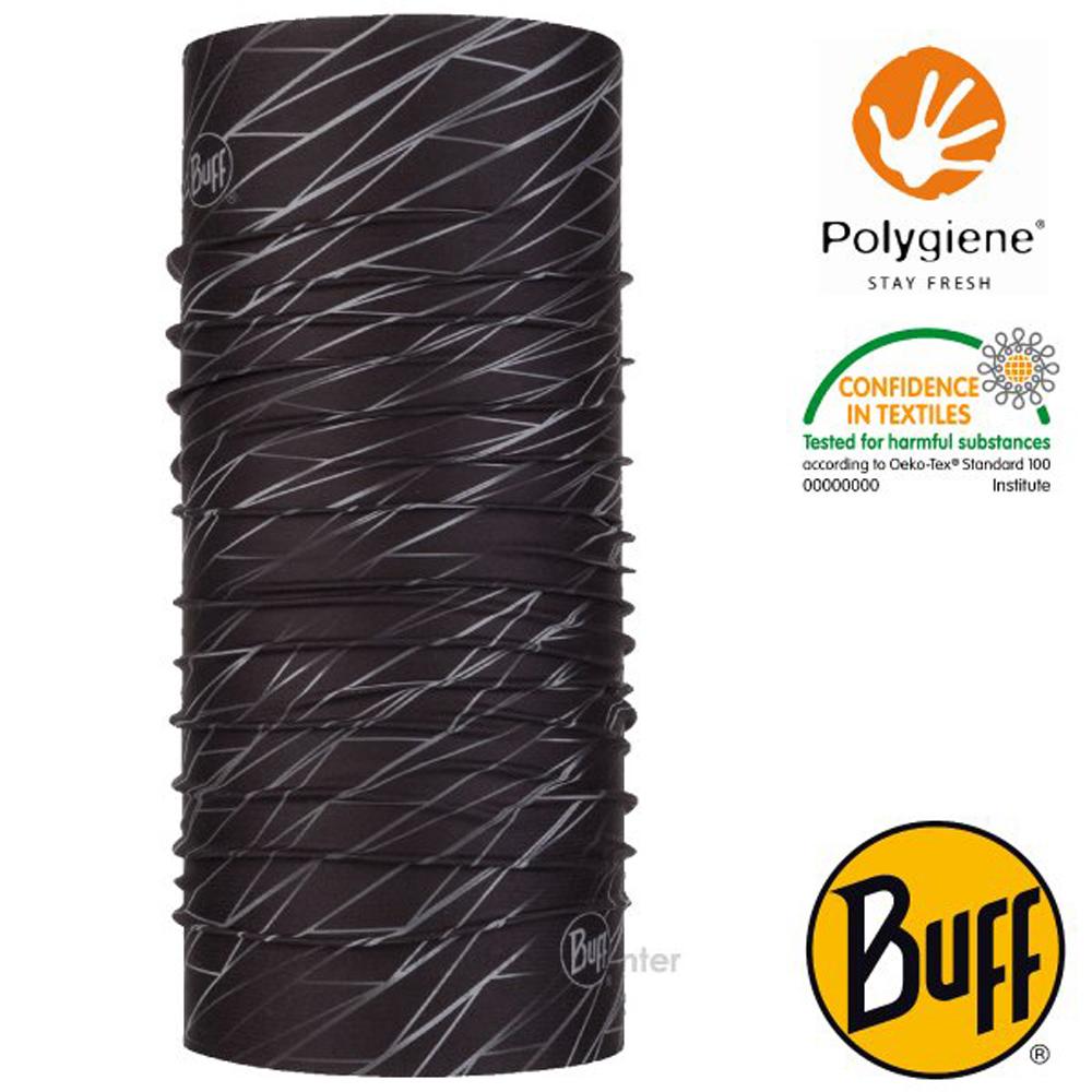 【西班牙 BUFF】Coolnet UV 超輕量彈性透氣魔術頭巾(吸溼排汗+抗菌除臭)_119346 黑暗流線