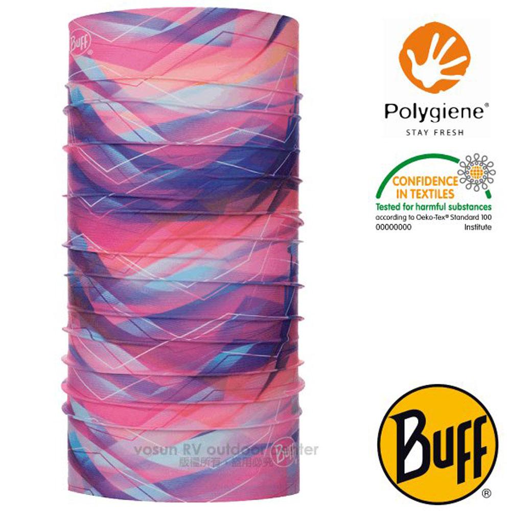 【西班牙 BUFF】Coolnet UV 超輕量彈性透氣魔術頭巾(吸溼排汗+抗菌除臭)_120167 粉桃落葉