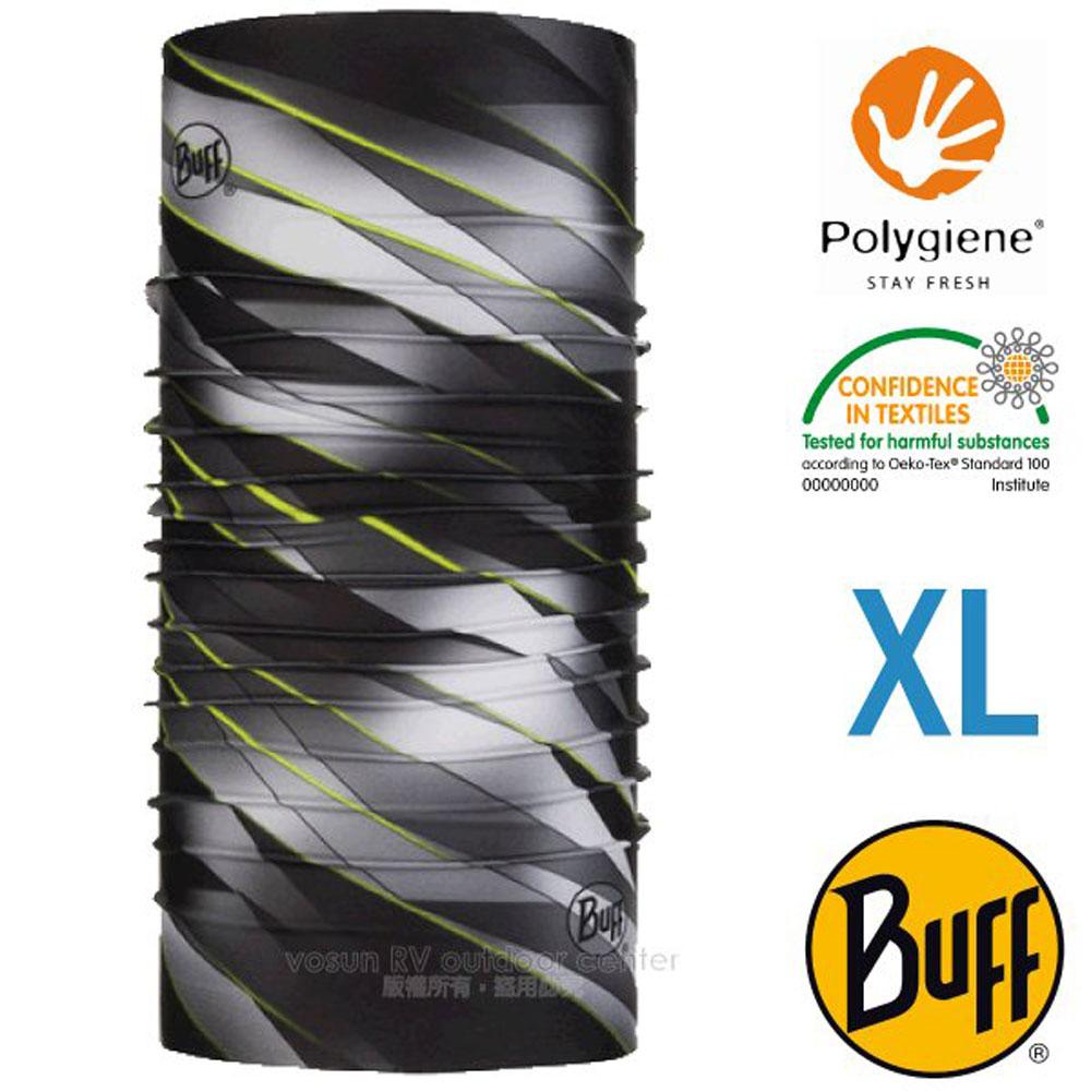 【西班牙 BUFF】Coolnet UV 超輕量彈性透氣魔術頭巾XL(吸溼排汗+抗菌除臭)_119391 灰階律動