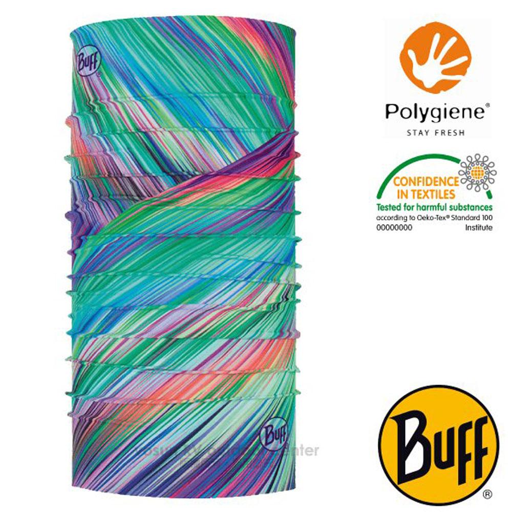 【西班牙 BUFF】Coolnet UV 超輕量彈性透氣魔術頭巾(吸溼排汗+抗菌除臭)_119377 夏日叢林