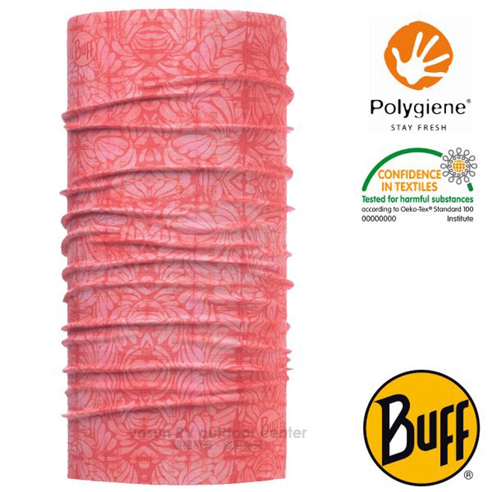 【西班牙 BUFF】Coolnet UV 超輕量彈性透氣魔術頭巾(吸溼排汗+抗菌除臭)_119386 戀戀花蕊