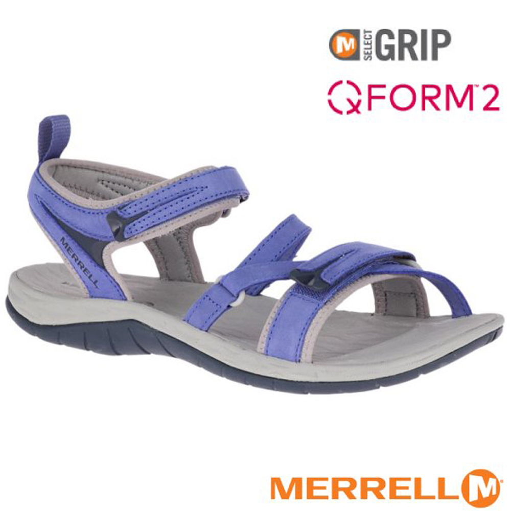 【美國 MERRELL】女新款 SIREN STRAP Q2 超輕量休閒涼鞋(防水牛巴戈皮)_ML19612 淺藍紫