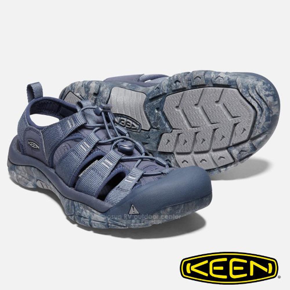 【美國 KEEN 】男新款 NEWPORT H2 專業護趾涼鞋_1020286 灰藍/深藍